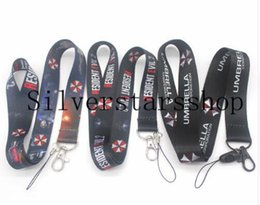 Wholesale hot boy cosplay online – ideas Hot Umbrella Neck Strap Lanyard Mobile Phone Strap ID Badge Holder Rope Key rings cosplay Accessory