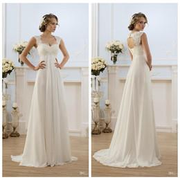$enCountryForm.capitalKeyWord Australia - 2019 Beach Wedding Dress Chiffon Boho Bridal Gown with Appliques Empire Bride Dress for Pregnant Women vestido de noiva