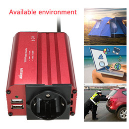 12v Powered Usb Adapter NZ - Freeshipping 300W Car Auto Power Inverter DC 12V to 230V AC Car Inverter with 4.8A Dual USB Portable Car Adapter
