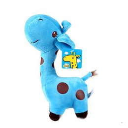 White Shorts Australia - 18cm giraffe doll plush toys crystal ultra soft short plush color dot toy deer free shipping