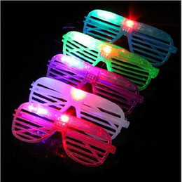 rave props NZ - Kids Toys LED Shades Glow Shutter Glasses Light Up Flashing luminous Rave Wedding Bar Stage Performence Concert Cheer Atmosphere Props TL348