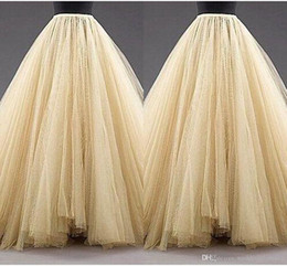 Cheap Party Tutus Australia - Tulle Long Women Fashion Skirts ALine Layered Tutu Floor Length Custom Made Size Plus Size Party Prom Adult Wear Spring Autumn Cheap Dress