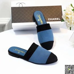 Buttoned Up Heels Australia - Slipper Outside Summer Wear 2019 New Pattern Hundred And Up Flat Bottom Chic Sociology Shoes Nothing Heel Slacker Sandals Female