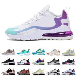 Discount dark jade - Wholesale In My Feels Grey and Orange Travis Scotts X React mens running shoes BAUHAUS Hyper Jade Bright Violet men spor
