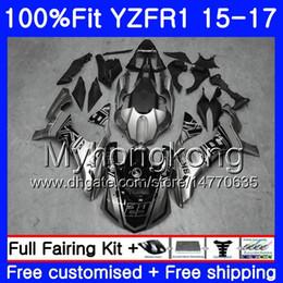 yamaha r1 body kit black 2019 - Injection Body For YAMAHA YZF R1 1000 YZF-R1 15 16 17 243HM.0 YZF-1000 YZF R 1 YZF1000 YZFR1 2015 2016 2017 Fairings kit