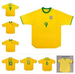 KaKa jerseys online shopping - new Brazil Soccer Jersey football Shirt Vintage Classic antique Collection uniform home yellow RONALDO RONALDINHO KAKA RIVALDO