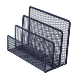 Humorous High Quality Black Metal Mesh Desk Organizer Desktop Office Home Bookends Book Holder 1 Pair Bookends Office & School Supplies