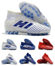 China 2019 New Predator 19.1 AG PP Paul Pogba Mens 19 Soccer Football Shoes 19 x Cleats Boots High Cheap Size 39-45 suppliers