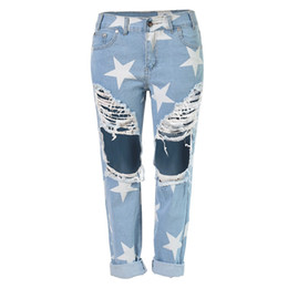 $enCountryForm.capitalKeyWord UK - Woman Vintage Holes Ripped Jeans Hot Summer Denim Blue White Trousers Women Pencil Pants Size S-2XL