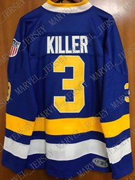 Slap Shot Chiefs Jersey NZ - Cheap custom Slap Shot Dave Killer Carlson #3 Ice Hockey Jersey Charlestown Chiefs Stitched Customize any number name MEN WOMEN YOUTH XS-5XL