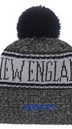 custom knitted beanies NZ - 2019 Unisex Autumn Winter hat Sport Knit Hat Custom Knitted Cap Sideline Cold Weather Knit hat Warm NEW ENGLAND Beanie Skull Cap 04