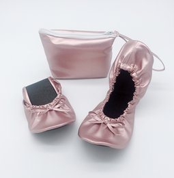 $enCountryForm.capitalKeyWord Australia - lady soft rollable ballet folding shoes slippers in pouch drop shipping cheap foldable flats