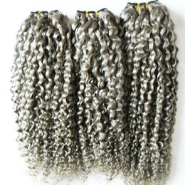 $enCountryForm.capitalKeyWord NZ - Human Hair Bundles 3PC Brazilian Hair Weave Bundles kinky curly gray weaving 3 Piece 8-30inch Remy Hair Extension
