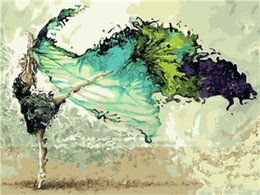 $enCountryForm.capitalKeyWord Australia - DIY Acrylic Painting by Numbers Kit on Canvas for Adults Beginner Ballerina Dancing Like a Butterfly 16x20 Inch