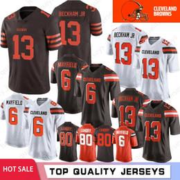 XXXl football jerseys online shopping - 13 Odell Beckham Jr Cleveland Baker Mayfield Brown Jerseys Kareem Hunt Jerseys Denzel Ward Joe Thomas Mens Landry