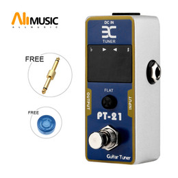 eno guitar tuner Canada - Eno EX Micro PT-21 Guitar Tuner Pedal Tuner Effect Compact Small Size For TC Electronics + Free Connector