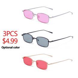 4822981d6d9 3PCS LOT 2018 Small Narrow Rectangle Sunglasses Women Men Brand Red Clear  Lens Skinny Slim Wire Retro Sun Glasses Shades Oculos