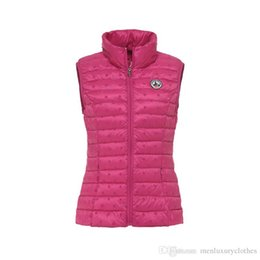 Опт Jott Women Down Жилеты Дизайнерские зимние пальто без рукавов Пуховик Slim Fit пальто