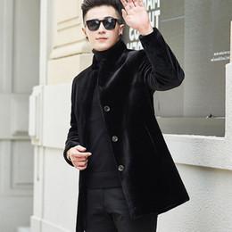 7bab5e87c51ba 2019 New Mens Coat Stand Collar Business Casual Fur Trench Coat Men New Fashion  Brand Clothing Plus Size XXXL XXXXL