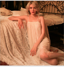 Hot Sexy White Dresses Australia - Hot sales Free Size Women sexy night wear solid color floral lace decor sheer mesh short dress ladies sleep wear #S265
