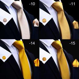 $enCountryForm.capitalKeyWord Australia - hot Silk Solid Men's Tie Set 8cm Ties Handkerchief Cufflinks Sets For Man Red Gold Purple Necktie for Men Wedding Gift