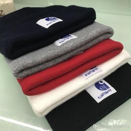 2018 Hight qualidade carhartt Gorros homens mulheres outono inverno beanies carta de malha bordado senhoras casuais pom-pom gorro bonnet luxe em Promoção