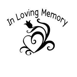 $enCountryForm.capitalKeyWord Australia - In Loving Memory Vinyl Decal Sticker Personalized Car Window Heart Flower Warm And Romantic