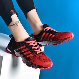 Sneakers Size 42 Australia - ZOPUDC Size 35-42 Fashion Women Shoes Knit Breathable Sneakers Lightweight Comfortable Women Walking Sneakers tenis feminino
