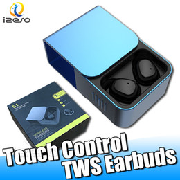 Bluetooth headset types online shopping - Touch Type TWS Wireless Cell Phone Bluetooth V5 Earphones Mini In ear Headsets IPX5 Waterproof Sports Headphone with Charging Box izeso