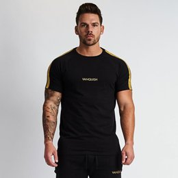 t m clothing Australia - New summer Shirt cotton gym fitness men t-shirt brand clothing Sports shirt male print short sleeve solid color Running t