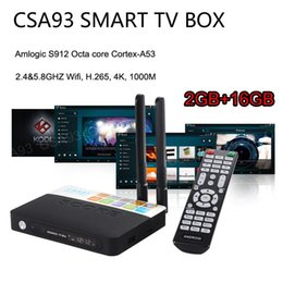 h.265 media player UK - CSA93 Amlogic S912 Octa core Android 7.1 TV Box ARM Cortex-A53 2G 16G BT4.0 2.4 5.8GHZ Dual WiFi 1000M LAN H.265 4K Smart Media Player S905X
