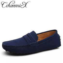 $enCountryForm.capitalKeyWord Australia - Men Casual Suede Leather Loafers Black Solid Leather Driving Moccasins Gommino Slip On Men Loafers Shoes Male Loafers Big Size MX190713