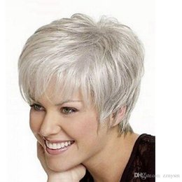 Discount bobo fashion - Fashion Women Straight Short BoBo White Synthetic Heat Resistance Hair Wigs