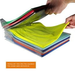 $enCountryForm.capitalKeyWord Australia - 10pcs Clothes Folder Arrangement T Shirts Jumpers Fold Organizer T-Shirt Folder Office Home Essentials