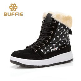 Nubuck Shoes Fur NZ - winter shoes women brand snow boots ankle short fur boots lace-up warm fur fits ture normal plus size 41 cow suede leather boots