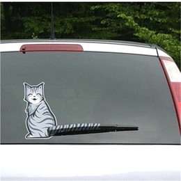 AnimAl crossing stickers online shopping - Cross border special for rear end cat car stickers wiper tail will move the cat rear end glass personality funny stickers