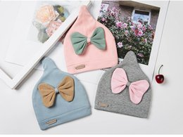 Infant Spring Hats NZ - New Toddler Baby Hats Bow Infant Spring Summer Cotton Cap Children Boys Girls Fashion Cute Fashion Caps