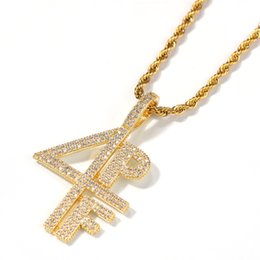 $enCountryForm.capitalKeyWord Australia - 2019 New Charm Necklaces Gold Silver Plated 4PF Pendant Necklace Iced Out Chain Diamond Letter Number DJ Rapper Jewelry Women Men Gift M200F
