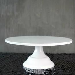 Sweetgo Grand Baker Standı 12 Inç Beyaz Düğün Araçları Fondan Bakeware Kek Dekorasyon Malzemeleri Tatlı Masa Q190430 Pops