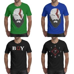 $enCountryForm.capitalKeyWord NZ - Mens printing God of War ax symbol black t shirt Design Retro Casual Shirts Party BOY game Kratos face Knife Boat Ring Black Logo File