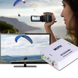New videos online shopping - New HDMI to RCA CVBS Adapter P Video Converter HDMI2AV Adapter Converter Box Support NTSC PAL Output HDMI TO AV Adapter