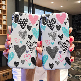 Flower Gift For Love Australia - Cute Love heart Flower Pattern Phone Cases For iPhone XS Max XR 6 6S 7 8 Plus XS X Soft IMD Graffiti Back Cover Coque Gifts