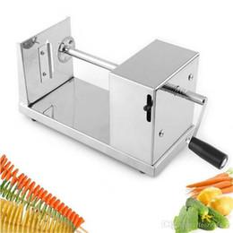 Toptan satış Hotsale tornado patates kesici makinesi spiral kesme makinası cips makinesi Mutfak Aksesuarları Pişirme Araçları Meyve Sebze Araçları