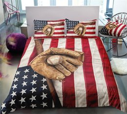 Plants for beds online shopping - American Flag Bedding Set For Baseball Lover Retro Classic D Duvet Cover King Queen Full Twin Single Double Soft Bed Cover with Pillowcase