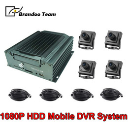 $enCountryForm.capitalKeyWord Australia - 4 Channel Mobile DVR Car Vehicle Bus Taxi CCTV Security System 1080P H.265 MDVR Kit With 4pcs 2.0MP AHD Camera
