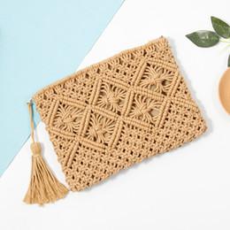 $enCountryForm.capitalKeyWord Canada - Woman High Quality Retro Hand-wrap Cotton Woven Beach Bag Straw Clutch Women Lady Day Tassels Summer Envelope Bag
