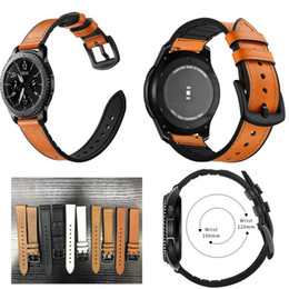 Samsung Gear Smart Watch Australia - 22mm Genuine Leather Watch Band Strap for Samsung Gear S3 Frontier Classic Smart Watch Replacement Wrist band strap for gear s3