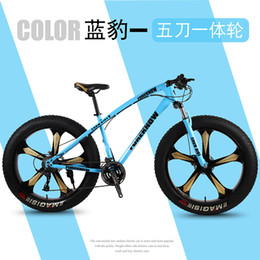 24 Inch Bicycle Australia - Bicycle Mountain bike 20 21 speed Fat Road Snow bikes Front and Rear Mechanical Disc Brake New Free shipping