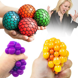 $enCountryForm.capitalKeyWord Australia - 5CM Stress Grape Ball Squishy Toys Novelty Squeezes Mesh Jouets Anti anxiety kids Children Fidget gadgets Squishies Stress Relief Balls