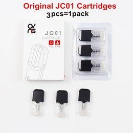 3pcs / pack Original JC01 Cartouche OVNS JC01 Cartouches Pod de remplacement pour JUU Starter Kit et batterie 0.7ml 1.5ohm Céramique en Solde